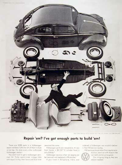 1960 VW Beetle Parts Vintage Ad