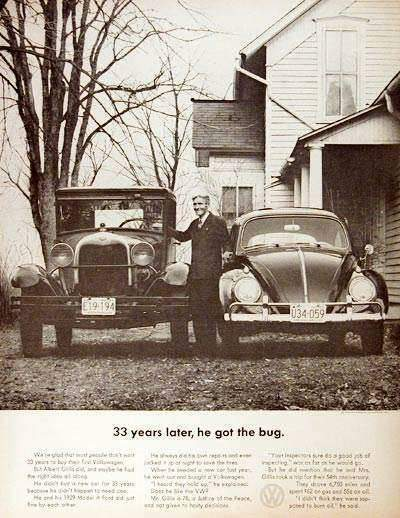 1963 VW Bug Vintage Print Ad - Air Cooled VW Love | Air Cooled VW Love